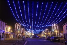 illuminations de rues, fabricant d illumination de noël, fabrications d'illuminations de Noël : plafond lumineux